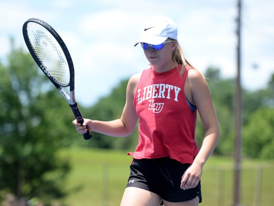 After skipping tennis her sophomore year, Riverheads