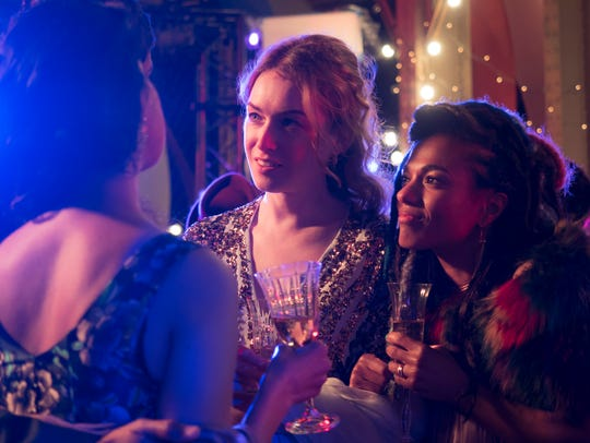 "Jamie Clayton and Freema Agyeman in the ""Sense8"" finale."