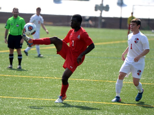 Riverheads' Josh Akinwumi scored both of his team's