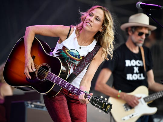 Sheryl Crow performs during the Bonnaroo Music & Arts Festival in Manchester, Tenn., on June 8, 2018.