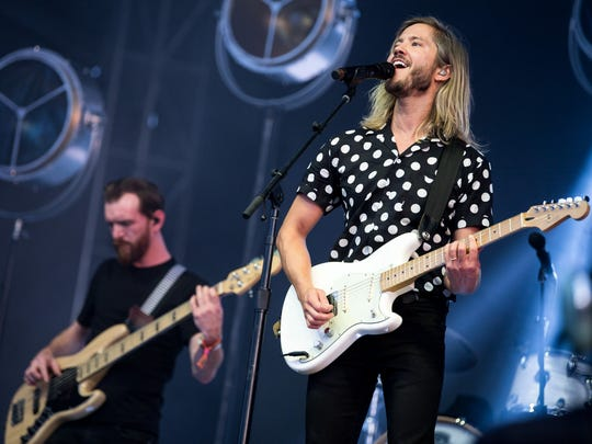 Moon Taxi performs during the Bonnaroo Music & Arts Festival in Manchester, Tenn., on June 10, 2018.