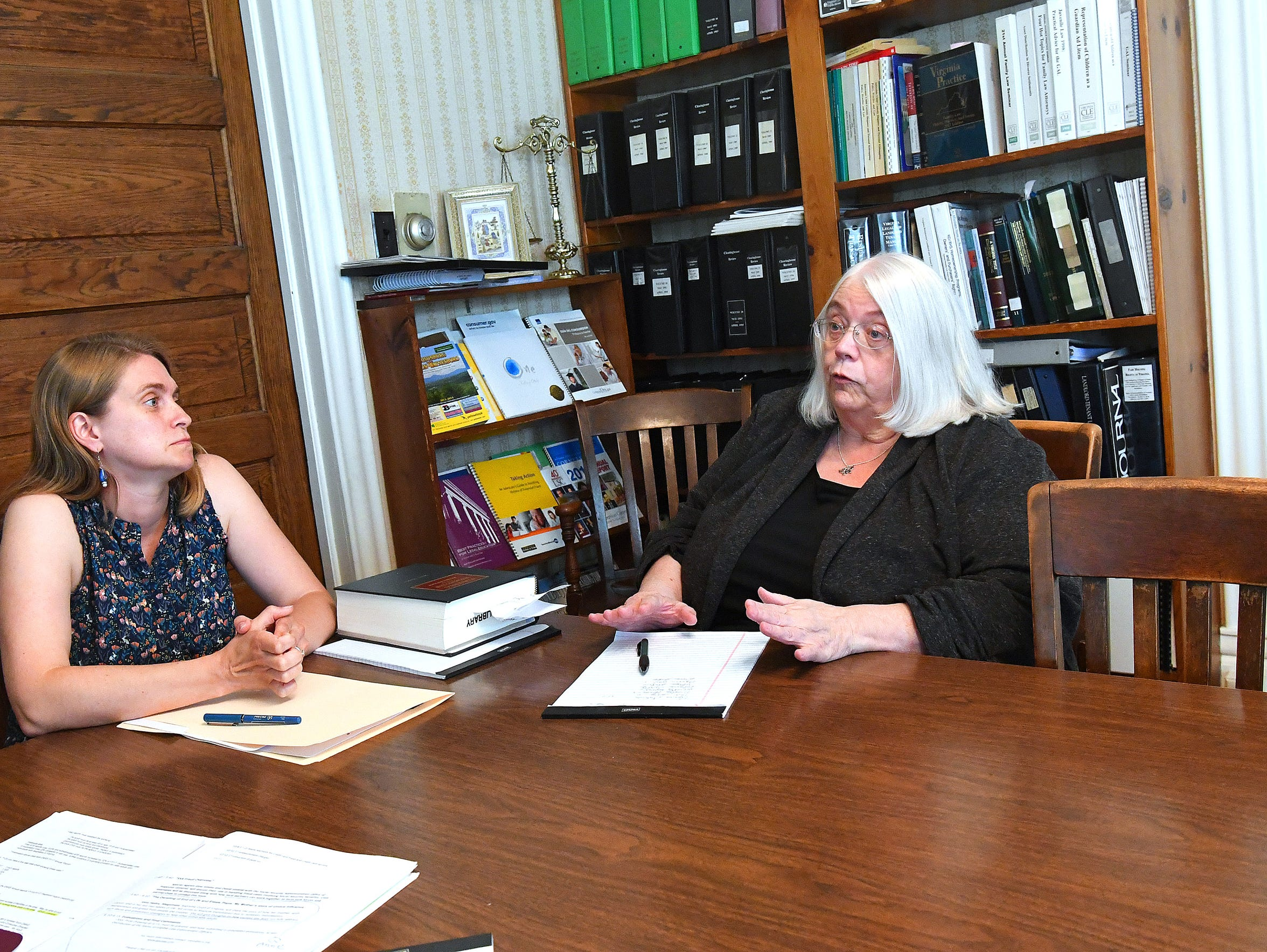 Anne See (right), public benefits and elderly law paralegal