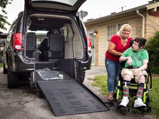 New handicap accessible van
