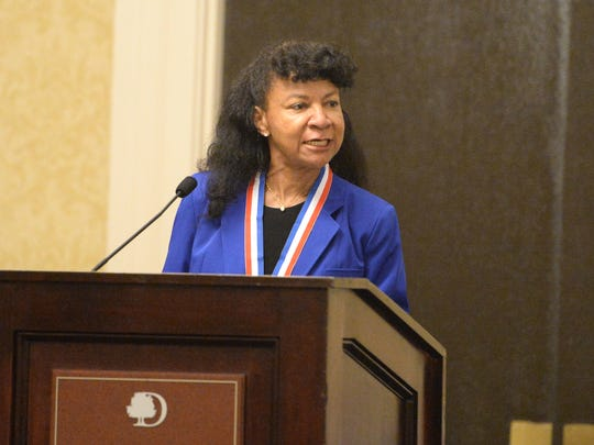 Marguerita Ragsdale, a graduate of Southside High in Dinwiddie County, gave the acceptance speech on behalf of all of the VIA Heritage Association Hall of Fame inductees Friday night.