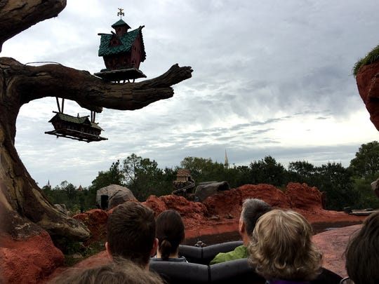 Splash Mountain, a flume ride in Disney's Magic Kingdom, allows riders to get some nice views of the park.