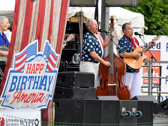 Southern Hospitality performs on stage for the crowd as one of the concerts taking place at John Moxie Stadium as part of Happy Birthday America in Staunton on Wednesday, July 4, 2018.
