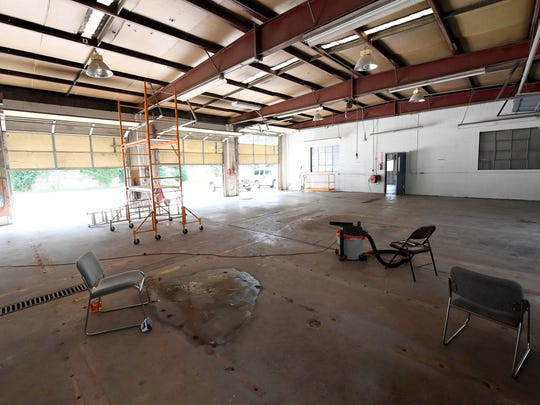 Inside the space being developed at 20 South Jefferson Street to serve as the future location of Staunton Makerspace.