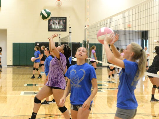 Matchpoint Volleyball held a team camp at Wilson Memorial