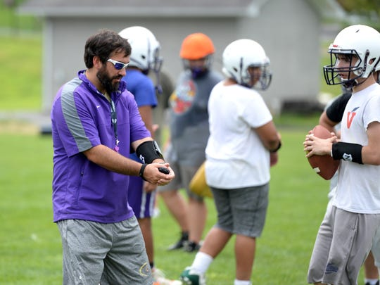 Shawn Moran, Waynesboro's first-year head football