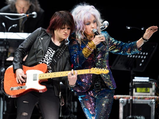 Cyndi Lauper performs at Bridgestone Arena in Nashville,