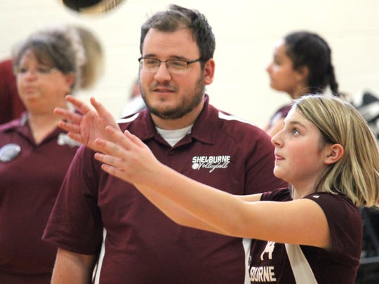 Jonathan Frame is starting his second year as the Shelburne Middle School volleyball coach. He came up with the idea for a preseason middle school tournament, the Staunton City Showdown.