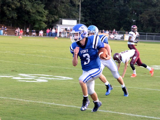 Cole Sligh and Fort Defiance host William Monroe on Friday at Alumni Field.