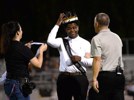 DaMillion Williams was crowned Waynesboro homecoming king Thursday night.