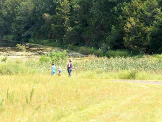 The two-thirds-mile walking trail is already being