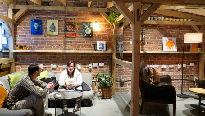 Ed Bouchard, of Swanton, and Cara Andersen, of Franklin, are regulars at Catalyst Coffee Bar in St. Albans City.