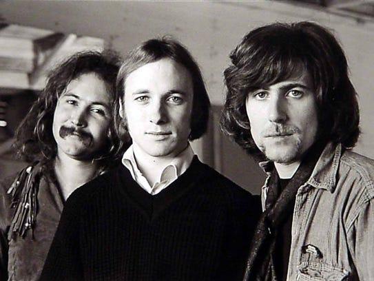 From left: David Crosby, Stephen Stills and Graham
