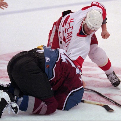 """March 26, 1997: The """"Brawl in Hockeytown"""" is the signature"""