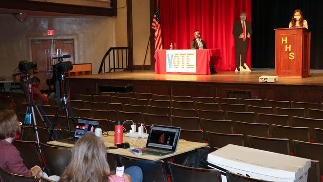 The Hendersonville High student body held a mock Electoral College last week and cast their votes for Joe Biden as the next president of the United States.