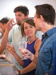 Randi Adair of Downingtown enjoys wine sampling at