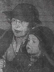 Harriet Blanche Jones is seen in this 1937 photo with Barbara Ann Williams.