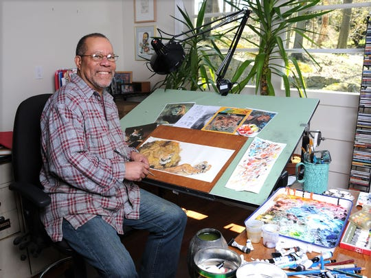 Author Jerry Pinkney will read to children as part