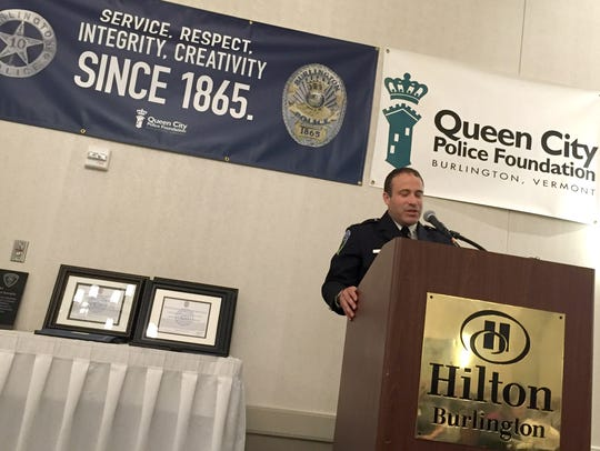 Police Chief Brandon del Pozo speaks during the Queen