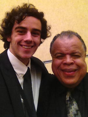 Dryden senior and Freeville resident Gabe Woods with Dr. Anton Armstrong, conductor of the National Association for Music Educators All National Honors Choir, which sang in Grapevine, Texas, Nov. 10-13.