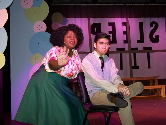 Cantrella Canady and Matthew Aparte in a scene from