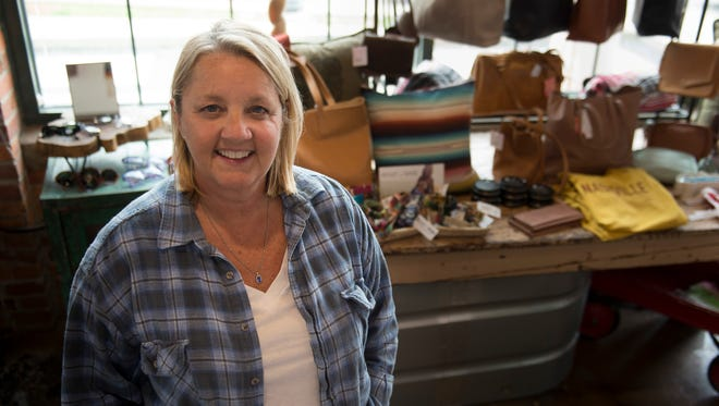 Songwritier Liz Rose has enjoyed success in the retail business with Castilleja a clothing store in Edgehill Village Friday, March 24, 2017 in Nashville, Tenn.