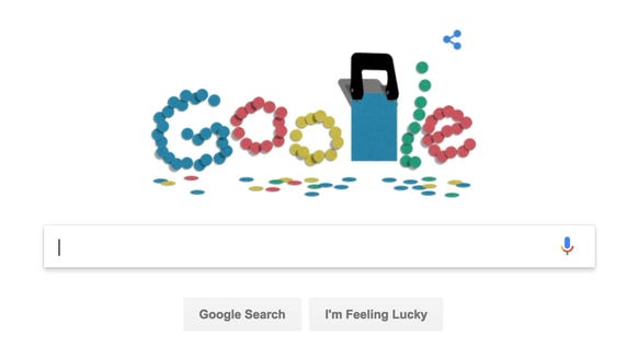 A Google Doodle in honor of the hole puncher.