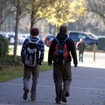 Students walk at the Chemeketa Community College campus in 2013.