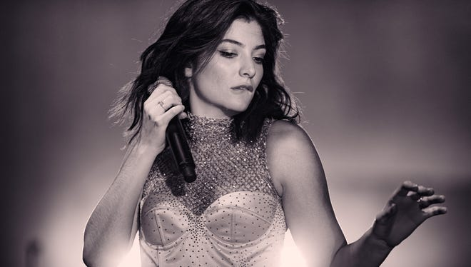 Lorde, probably the biggest attraction of this year's Bumbershoot, performs at Coachella earlier this year.