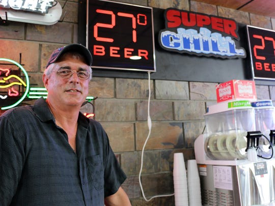 Stan Kranovich of the Steer N Stein at the Iowa State Fair sold 27-degree Super Chill Beer for the first time in 2015.