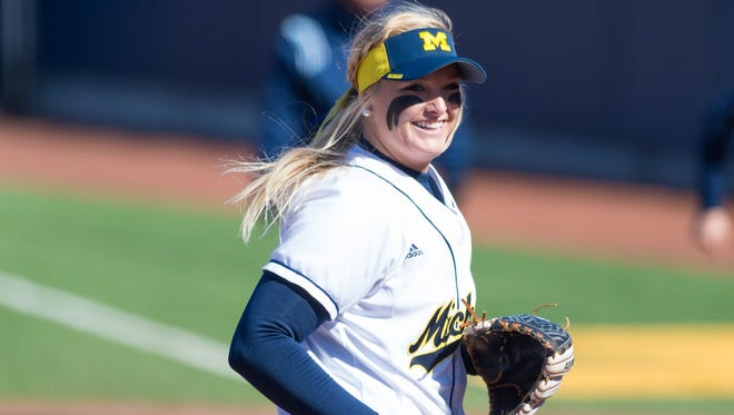 Michigan pitcher Megan Betsa