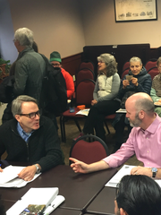 Burlington Development Review Board members Jim Drummond,