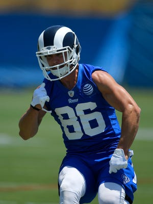 Receiver Nelson Spruce couldn't stay healthy with the Rams, who cut the Westlake High graduate on Saturday.