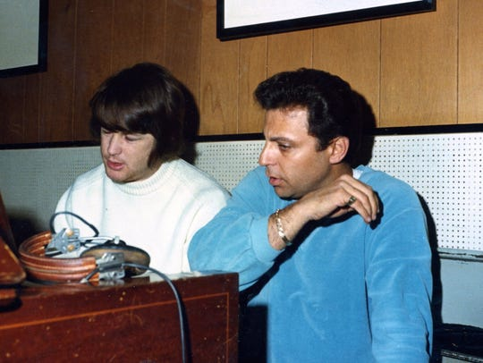 """Brian Wilson and Hal Blaine in """"The Wrecking Crew,"""""""