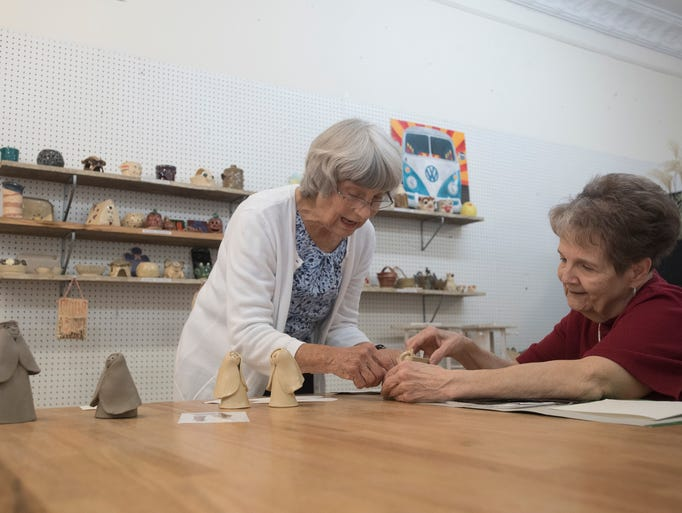 Area artists work on various projects at the Potter's