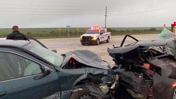 Three people were taken to trauma hospitals after a crash Friday morning on U.S. Highway 27.