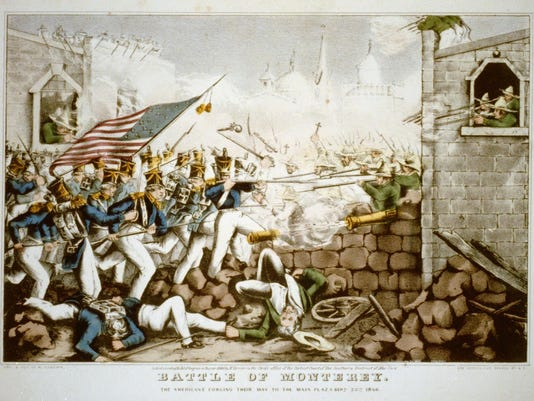 Battle of Monterey--The Americans forcing their way to the main plaza.tif