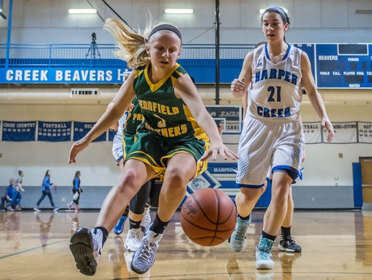 Pennfield returns its top seven players from last year, including guard Naomi Davis.