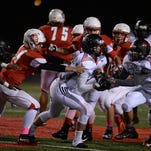 Richmond and Lafayette Jeff meet for a football game Friday, Oct. 2, 2015, at RHS.