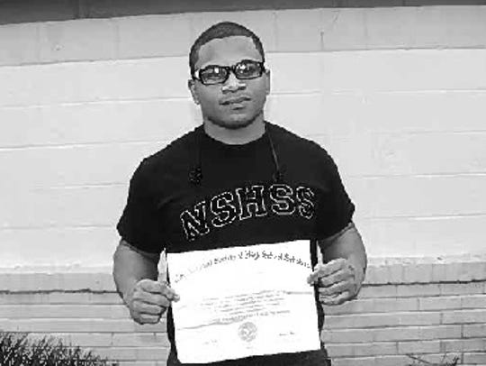 South Plainfield High School student Dion A. Pender