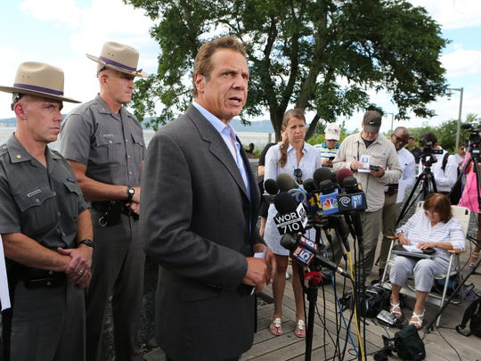 New York State Governor Andrew Cuomo at the Tarrytown