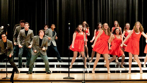The combined Webster Thomas and Schroeder Show Choir