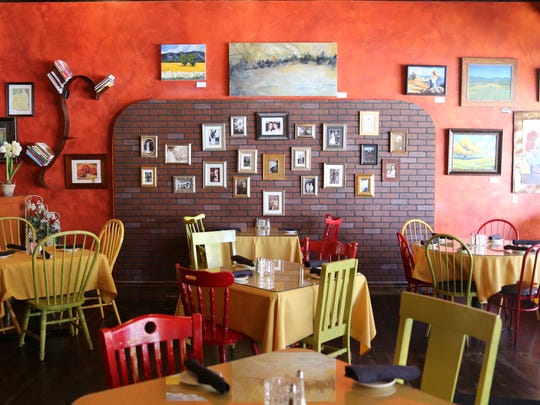 Eclectic art lines the walls inside Cappeletti's, adding to the quirky ambiance.