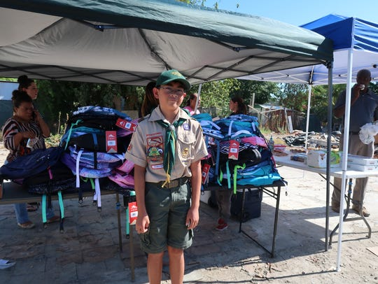 Andrew Smet of Irvine serves with Boy Scout Troop 695.