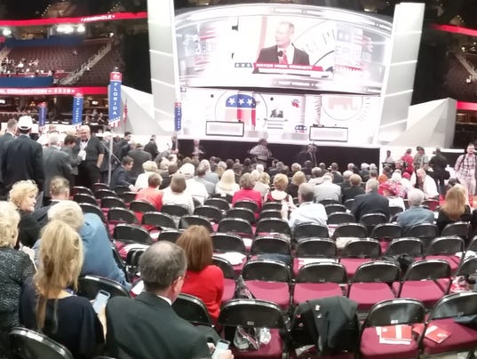 Panoramic view of the Republican National Convention floor at Quicken