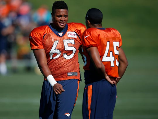 Eddie Yarbrough (65)  spent the summer of 2016 in the Denver Broncos' training camp, but was eventually cut.