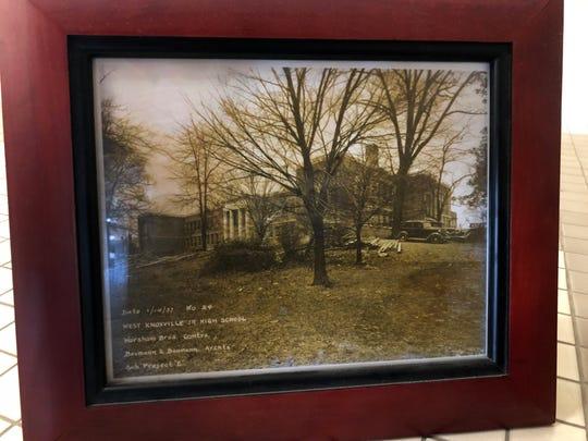 A photograph of Tyson Jr. High School, dated Jan. 14,